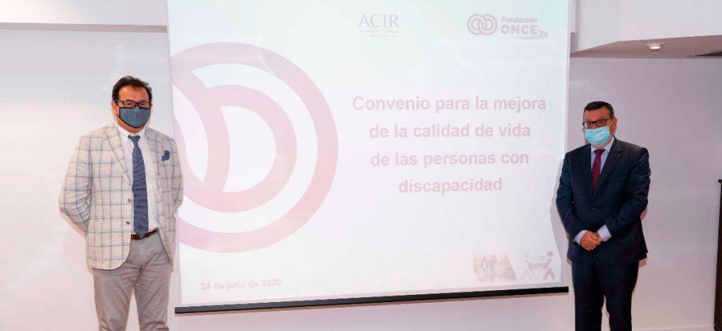 Acuerdo entre Fundación ONCE y ACIR/ACEA: Convenio para la mejora de la calidad de vida de las personas con discapacidad